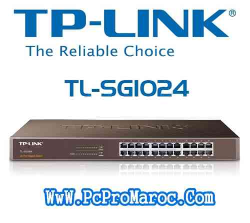 TP-Link TL-SG1024 Switch 24 Port Gigabit Rack 19""