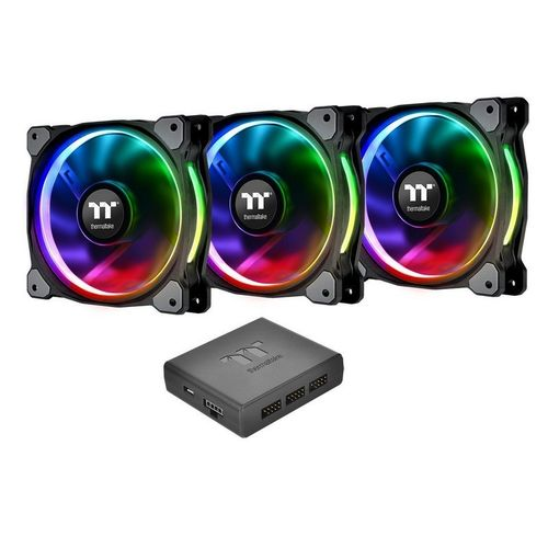 Thermaltake Riing Plus LED RGB Fan 140mm Pack 3 Ventiladores + Controlador