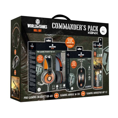 Konix World of Tanks Commanders Pack: Auriculares + Ratón + Alfombrilla